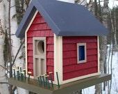 Birdhouse, Donette's Cottage - Chianti Red w/shake shingle siding
