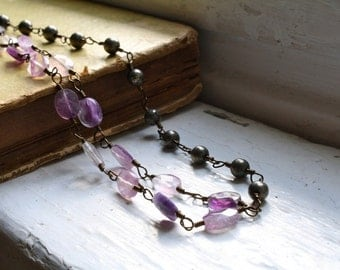 Wire Wrapped Beaded Necklace