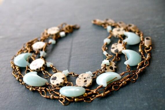 Five Boho Bracelets Moons and Stars