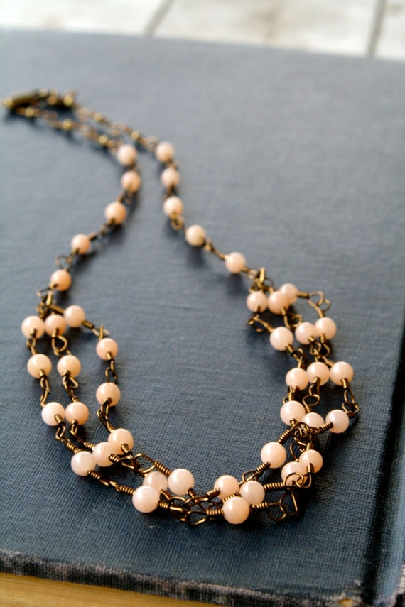 Pale Pink Layered Necklace