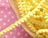 Butter Cream Yellow Baby Pom Pom Ball Fringe/Trim