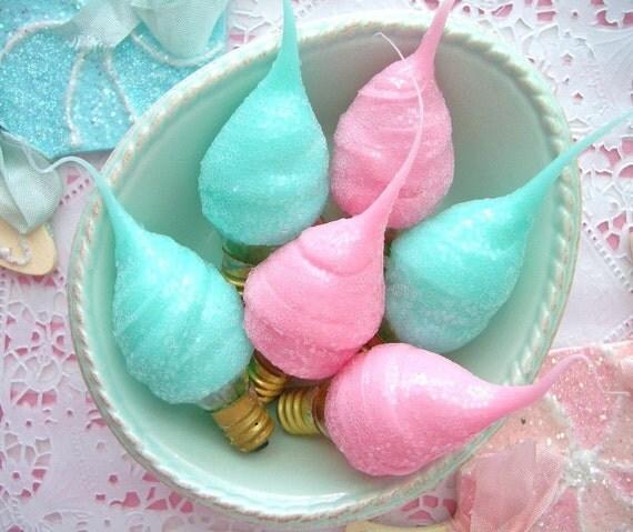Candylights Cotton Candy Aqua or Bubblegum Pink 5 Watt Light Bulb