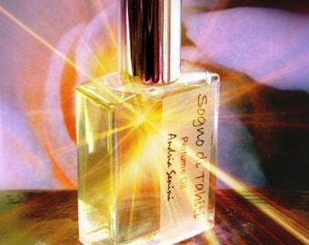 Sogno di Tahiti Perfume Oil tropical fresh original intense blend 1/2 ounce - Potent lasting vegan fragrance - orchid champaca bamboo