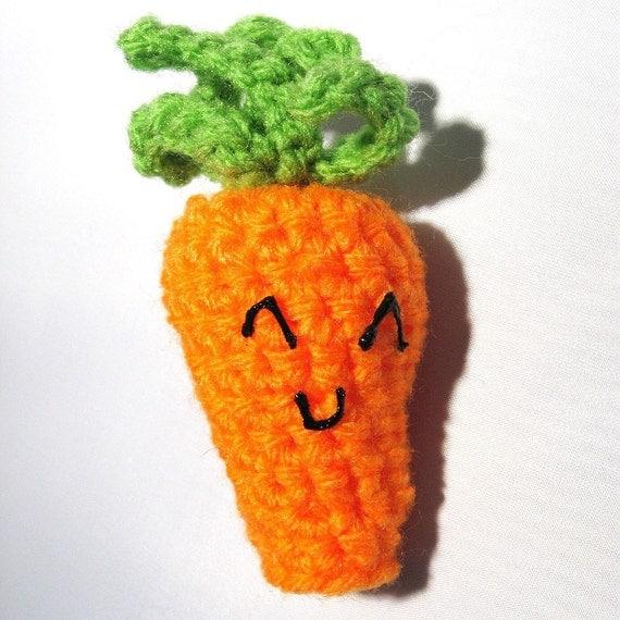 Neon Carrot Finger Puppet