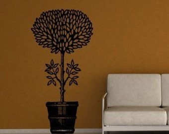 Potted Plant Vinyl Wall Decal