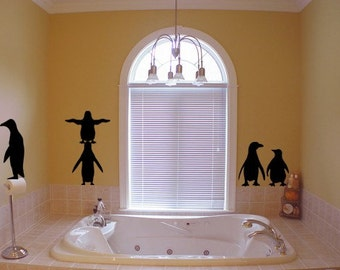 Penguin Waddle Vinyl Wall Decal
