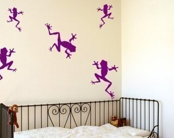 Frog Family 5 Vinyl Wall Decals