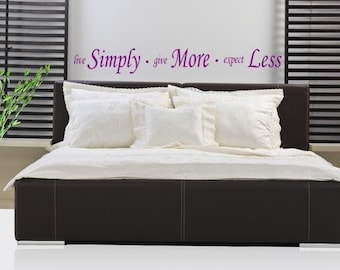 Live Simply Vinyl Wall Decal
