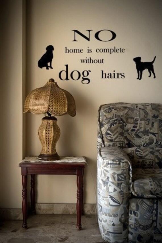 Dog Hairs Vinyl Wall Decal