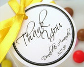Custom Order - Kaylene2 - Thank You Personalised Wedding Favour Tags Set of 250