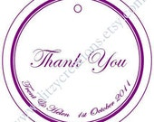 Custom Order  - Berries4eva - Thank You - Personalised Wedding Favour Gift Tags - Set of 100