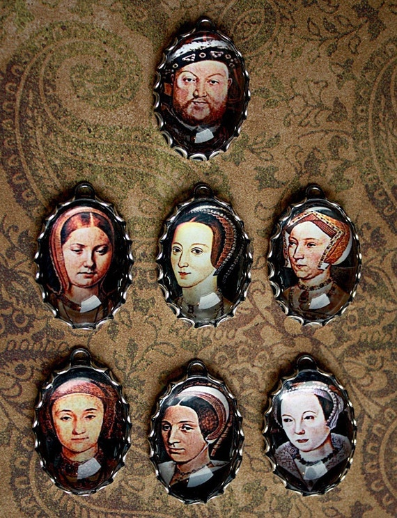 The TUDOR Family-HENRY VIII/ 6 Wives-Anne Boleyn Handmade Photo Charms in 25X18mm Bezels-British Royalty charms
