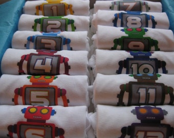 Roboto Monthiversaries - Set of 12 Onesies