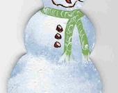 Snowman Wooden Ornament