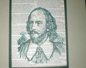 TRP - Shakespeare Art Print on Vintage Page of his works