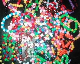TRP - 10 Single Kandi Pony Bead Bracelets for raves