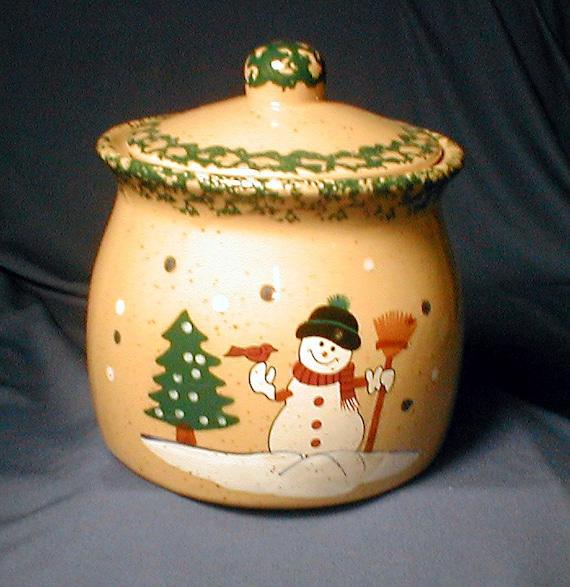 TRP - Snowman Crock Cookie Jar