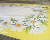 Retro Package of 6 DAISY Yellow and White Placemats - Red Farm Studio