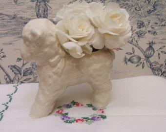 Vintage Lamb Planter Vase Spring, Easter Sheep White