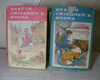 Best In Childrens Books - 2 Books With Dustjackets 1958, 1961