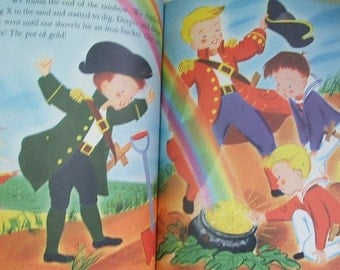 Vintage Childrens Book 1952 The Wonderful TREASURE HUNT Irma & George Wilde Storybook
