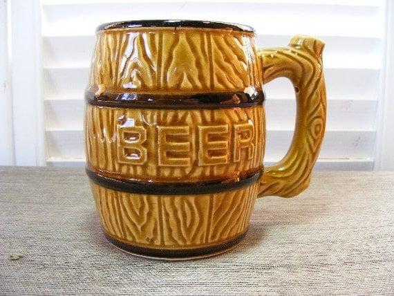 Beer Keg Mug - Japan - by Violets And Grace on Etsy