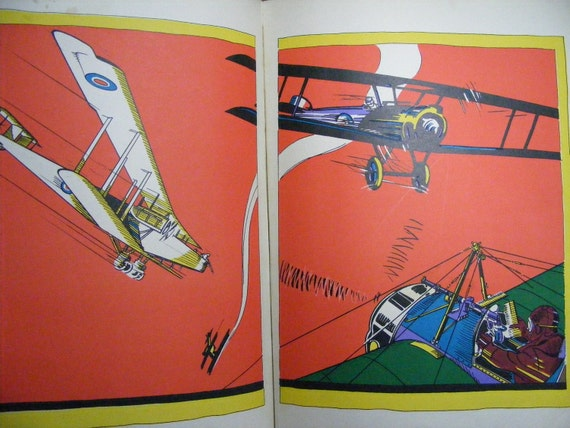 1920s Frank Dobias The PICTURE BOOK of FLYING Art Deco Illustrations History of Flight, Transportation, Airplanes
