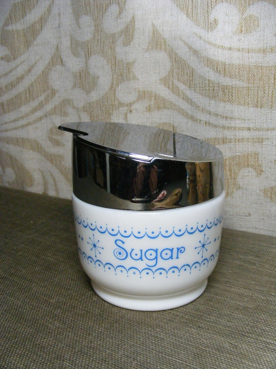 Vintage Milk Glass SUGAR BOWL Gemco