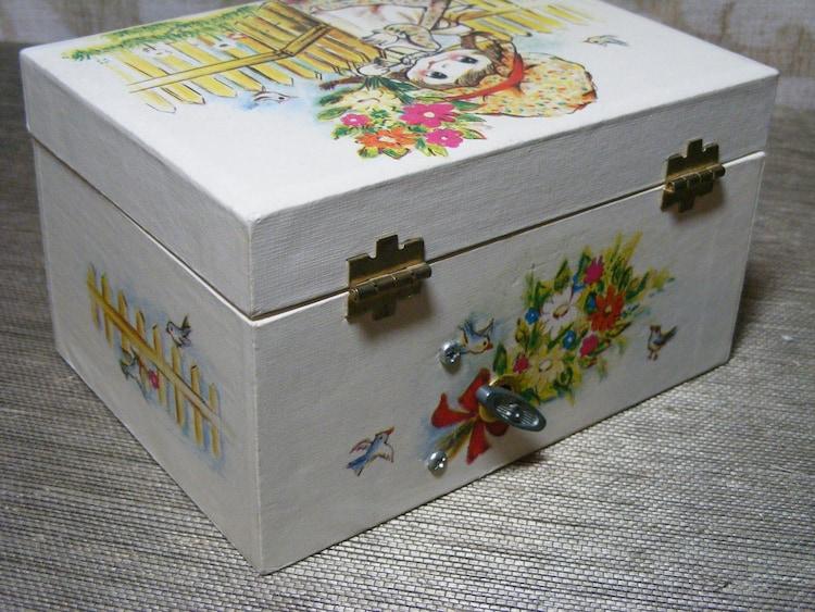 Vintage Musical Jewelry Box Retro Ballerina 70s By