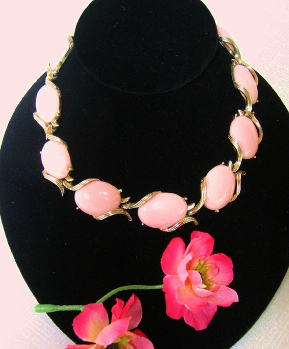 Vintage Pink Lucite Necklace