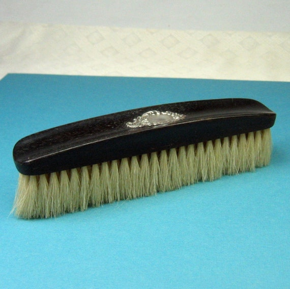 Vintage Sterling Silver and Ebony Vanity Brush made in Germany