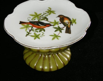 Birds and Green Plate