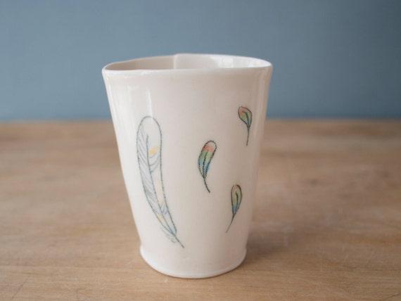 SALE feather cup