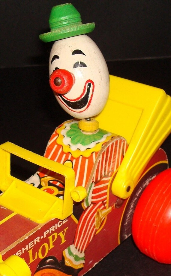 Vintage fisher price jolly jalopy clown car toy for Clown fish price