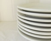 Set of Eight Vintage Ironstone Lunch Plates