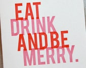letterpress card  //  holiday  //  be merry