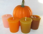 PUMPKIN LOVERS SAMPLER (set of 4 votive candles)
