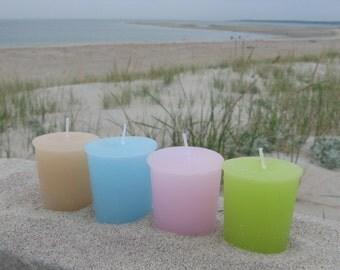 BEACH SAMPLER (set of 4 votive candles)