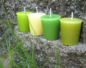 GRASS SAMPLER (set of 4 votive candles)