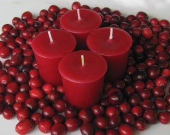 CRANBERRY (4 votives or 4oz soy jar candle)