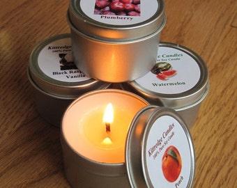 FRUIT SAMPLER (four 2-oz soy candles)