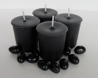 BLACK JELLY BEANS (4 votives or 4-oz soy jar candle)