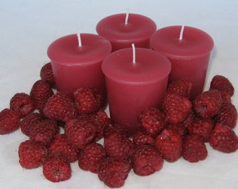 RED RASPBERRY (4 votives or 4-oz soy jar candle)