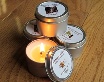 OLD HIPPIE SAMPLER (four 2-oz soy candles)