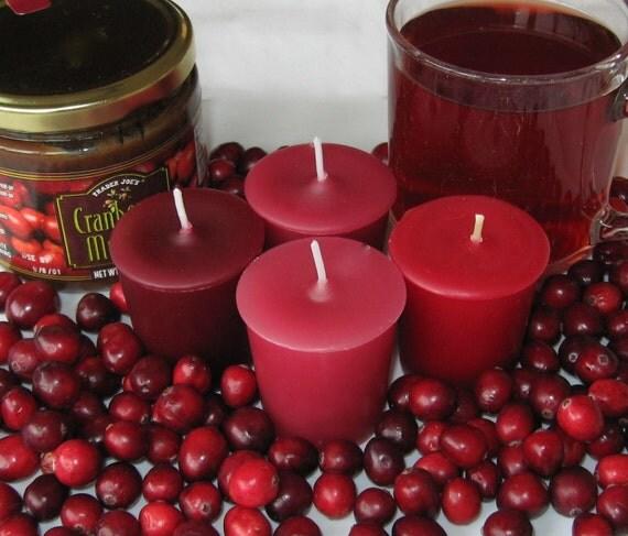 CRANBERRY LOVERS SAMPLER (set of 4 votive candles)