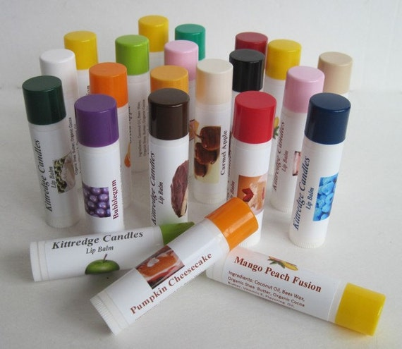 3 LIP BALMS - Bacon and 41 other flavors (set of three)