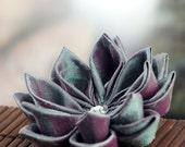Jade Berry - Tsumami Style Silk Flower Brooch