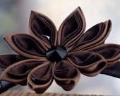 Hot Chocolate - Silk Tsumami Kanzashi Flower Headband