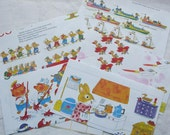 Envelopes made from Richard Scarrys Best Counting Book Ever, set of 5