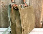 Vintage Military Bag / Swiss Satchel